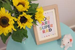 sunflowers stool